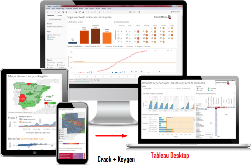 Tableau Desktop Crack + Keygen